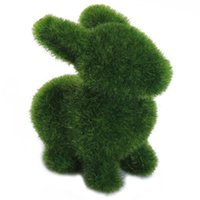 Wholesale IMC Grass Creative Handicraft Animal Rabbit w Artificial Turf Skin order lt no track