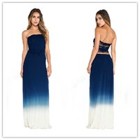strapless maxi dress - 2015 Women Casual Bandage Maxi Dress Europe and America Slim Sexy Backless Strapless Bandage A Long Section Of Mopping The Floor Dress