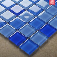Wholesale KASARO Mediterranean blue crystal glass mosaic backdrop bathroom bathroom tile puzzle