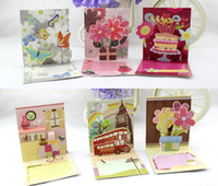 Wholesale 3D types lovely mini greeting cards for birthday praties thanksgiving party supplies message cards