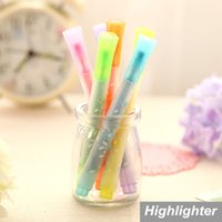Wholesale 36 Star Highlighter pen for reading Color Marker pen Fluorescent drawing caneta office material School supplies