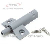 door closer - 50pcs Door Catches Closer With Front Base Damper Soft Closing Fittings Buffer Cabinet Open And Close System