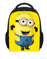 Wholesale Minions Despicable Me Cartoon Movies Kids School Bags Children Shoulder Backpack Student Gift For Girl Boys Size cm inches