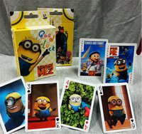 Wholesale 2015 Despicable ME Poker D Cartoon Characters Minions Paper playing cards poker anime cartoon poker toys card games Christmas Gift Hot Sale