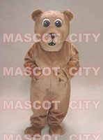 Mascot Costumes advertising stages - Brown Bear Mascot Costume School Party Stage Advertising Mascotte Mascota Outfit Suit Carnival Party Fancy Dress SW503
