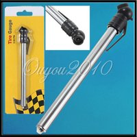 Wholesale Mini Silvery Car Bike Motorcycle Tyre Tire Air Pressure Test Meter Gauge Pen Tool KPA PSI