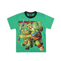 Wholesale 2014 Brand New Cute Ninja Turtles prime boys short sleeve t shirt top tees cartoon cotton t shirts
