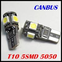 car led brake light - T10 SMD T10 smd led Canbus Error Free Car Lights W5W SMD LIGHT BULBS NO OBC ERROR White Blue Red