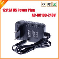 12v dc adaptor - EU Type AC V to DC V A Power Supply CCTV Camera LED Strip AC DC Adapters Power Plug Adaptor x2 mm