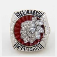 2013 Chicago Blackhawks Stanley Cup campeonato anillos anillos personalizados TAMAÑO EE.UU. 11 Diamante de aleación de alta calidad 14