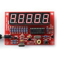 Wholesale DIY Kits Hz MHz Crystal Oscillator Frequency Counter Meter Digital LED PIC