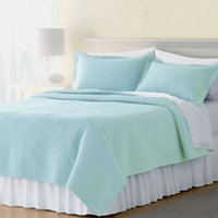 baby comforter size - Solid comforter Bedding set hotel home m to m Washed cotton quilted bed cove queen twin full size Baby Girls