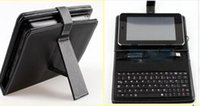 Wholesale leather case and keyboard for inch tablet pc