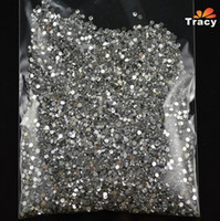 Wholesale 20000pcs mm d Silver Crystal Flatback Rhinestones Nail Art Studs Decorations DIY Gems Tips Stickers Manicure Tools NAO01