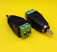Wholesale PLUGZ2GO RCA MALE CONNECTOR to AV SCREW TERMINALS for CCTV RCA REPAIRS