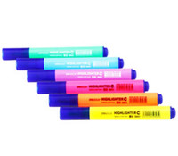 Wholesale Korea Stationery Colors Highlighter Fluorescent Liquid Chalk Marker Pen for LED Writing Board