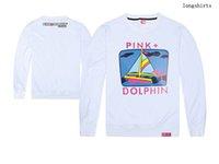 al por mayor camisetas delfín rosado-Camiseta del delfín del rosa del sudadera del sudadera del invierno del otoño y del invierno