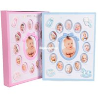 baby photo albums for boys - 1509 Child Baby photo Album For Picture Hellow out Album De Foto Photos Blue Pink kids Boys Girls Inch Mixed Interleaf New