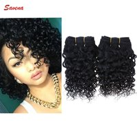 Wholesale Grade A Brazilian Kinky Curly Weaving Human Hair g inch Color B J Unprocessed Human Hair Extensions