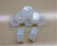 Wholesale 2015 newest ml clear nonstick silicone container jars dab silicone wax container