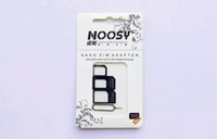 Wholesale NOOSY Nano Sim Micro Sim Standard Sim Card Convertion Converter Nano Sim Adapter Micro sim Card For Iphone Plus All Mobile Devices US7