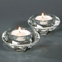 Wholesale by DHL FEDEX UPS k9 crystal candle holders tealight candle holders for wedding and home decoration