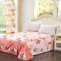 beautiful bedspreads - Bed Cover Sheet Warm and Soft Cotton Beautiful Flowers Pattern Printed Bedspread Flat Sheet