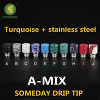 turquoise stones - Someday factory new stainless steel stone drip tip jade jewelry drip tips Turquoise drip tip drip tips
