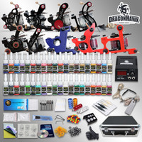 Wholesale Complete Tattoo Kit Top Machine Gun Color Ink Power Supply Needle