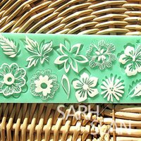 Wholesale L024 flower leaf lace mold cake mould silicone baking tools kitchen accessories decorations for cakes Fondant