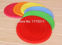 ball frisbee - Silicone Rubber Dog Toys Ball Non toxic Bite Resistant training dog frisbee tooth resistant outdoor Pet Toys