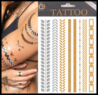Wholesale Fashion design Metallic Temporary Tattoos foil tattoo metallic tattoo flash tattoo