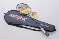 Wholesale Mesuca Sport Supper k Aluminum Carbon Badminton Racket SDA00546 Mixed Colors Advanced Badminton Racket for Badminton Funs