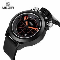 auto zone hours - MEGIR Fashion Outdoor Sports Watches Men Auto Date Waterproof Silicone Quartz Watch Military Watches Men Hour