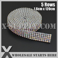 ab crystal cake banding - Crystal AB Rhinestone Banding Trimming for Cake and Cup Stand Wedding Decoration Bridal Dress