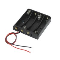 Cheap Black 4 x 1.5V AAA Battery Batteries Holder Case w Wire Leads Wonderful Gift