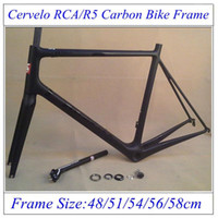 bicycle frame parts - 2016 Newest Cervelo RCA R5 Bicycle Frames Road Carbon Bike Parts UD Weave With BB Right Carbon Frame With Seatpost Headset Clamp Fork