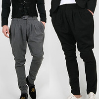 asian sweat pants - Top Casual Pants for Men Fashion Cool Harem Pants Sweat Pant Zipper Pocket Design Sport Men Bloomers Pants Asian Tag Size M XL