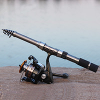 6-6.9 Feet fishing pole - High Quality Hot Sale Fishing Rod m Black Fishing Reel Sea Rods Carbon Ocean Fishing Pole Boat Telescopic Fishing Tackle