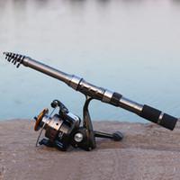 6-6.9 Feet fishing rod - High Quality Hot Sale Fishing Rod m Black Fishing Reel Sea Rods Carbon Ocean Fishing Pole Boat Telescopic Fishing Tackle