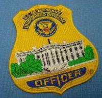 badge printing service - USSS United States Secret Service uniformed personnel Uniformed Division embroidered badge