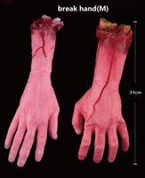 Wholesale Hallowmas decoration break leg break hand break finger prank artificial prop limbs