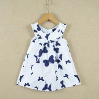 Wholesale 1 Children s clothing summer butterfly kids dress Next Retail high quality cotton girl s dress