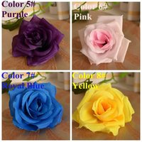 Wholesale Artificial Roses Flowers cm Wedding Roses Artificial Silk Rose Head Flower for Wedding Decoration Artificial Silk Rose Flower Head