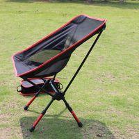 aluminium garden chairs - Folding Campstool Fishing chair Aviation Aluminium Outdoor Camping Hiking Picnic Garden Chair BBQ camp Stool Folding Seat