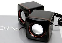 Wholesale High Quality Stereo USB2 Mini Speaker with Retail Package