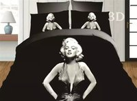 Wholesale free Minions bedclothes Marilyn monroe bedding sets d bedclothes black duvet cover sets king queen size bed linen bed sheet sets bed set