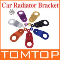 Wholesale Car Accessories Aluminum Stay Car Radiator Bracket for Honda Civic EK Colors Orange Black Red Silver Purple Golden Blue