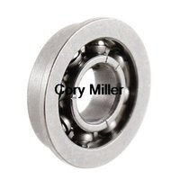 agriculture bearings - 3mmx7mmx2mm Stainless Steel Open Flanged Ball Bearing for Agriculture order lt no track