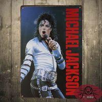antique singer - Pop Michael Jackson Singer Star Bar Club Hall Wall Poster Decor Metal Tin Signs